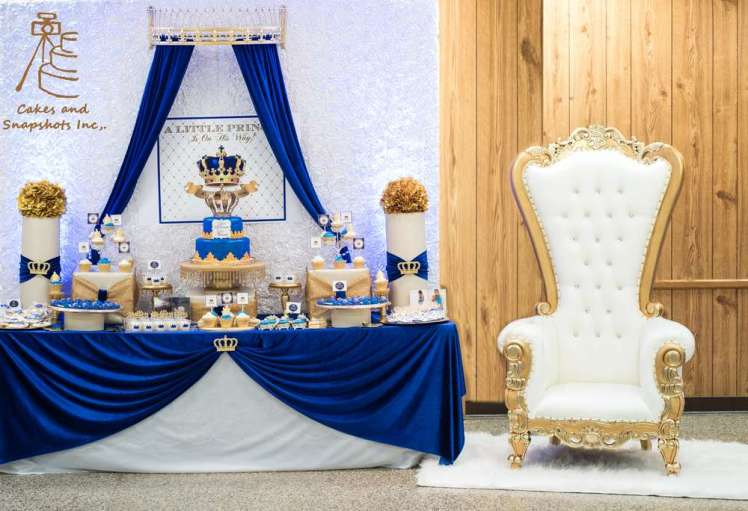 Royal Prince Theme Baby Shower Decoration 5