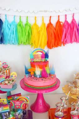 Trolls Theme Birthday Party Decoration 2