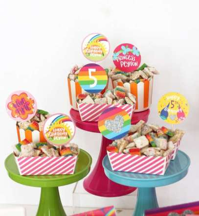 Trolls Theme Birthday Party Food