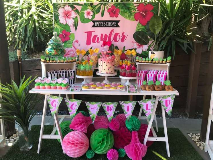 Tropical Theme Birthday Party 2