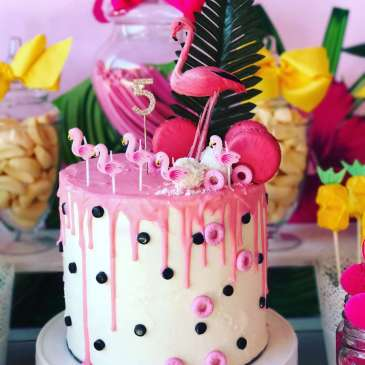 Tropical Theme Birthday Party Cake