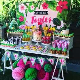 Tropical Theme Birthday Party