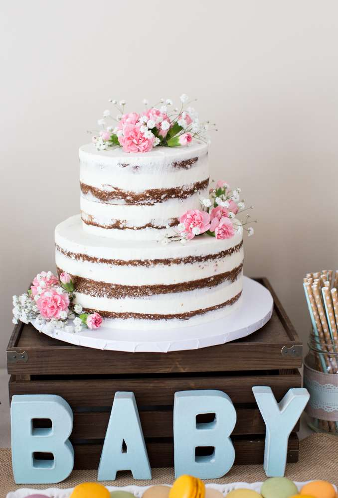 Vintage Theme Baby Shower Cake