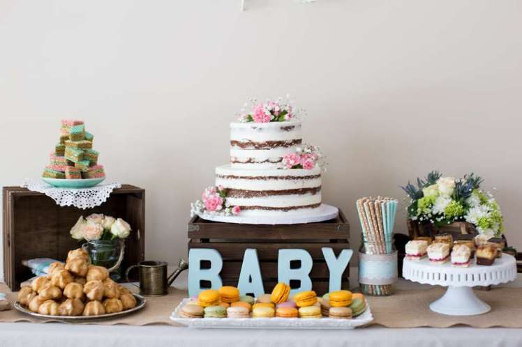 Vintage Theme Baby Shower Decoration 2