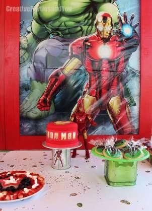 Avengers Theme Birthday Party Iron Man Cake 3