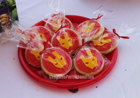 Avengers Theme Birthday Party Iron Man Cookies
