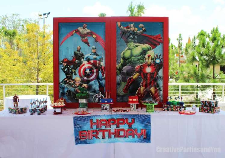 Avengers Theme Birthday Party