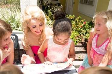 Barbie Theme Birthday Party Girls with Barbie 2