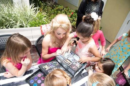 Barbie Theme Birthday Party Girls with Barbie 3