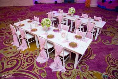 Lace and Pearls Theme First Birthday Party Kids Table 2
