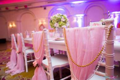 Lace and Pearls Theme First Birthday Party Kids Table 6