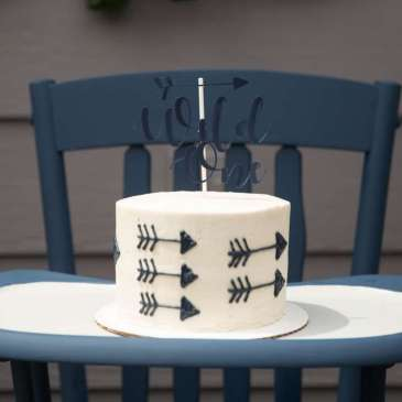 One Wild Adventure First Birthday Party Cake