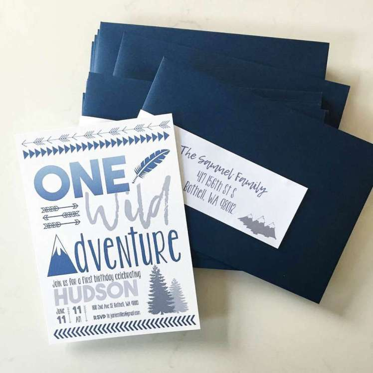 One Wild Adventure First Birthday Party Invitation