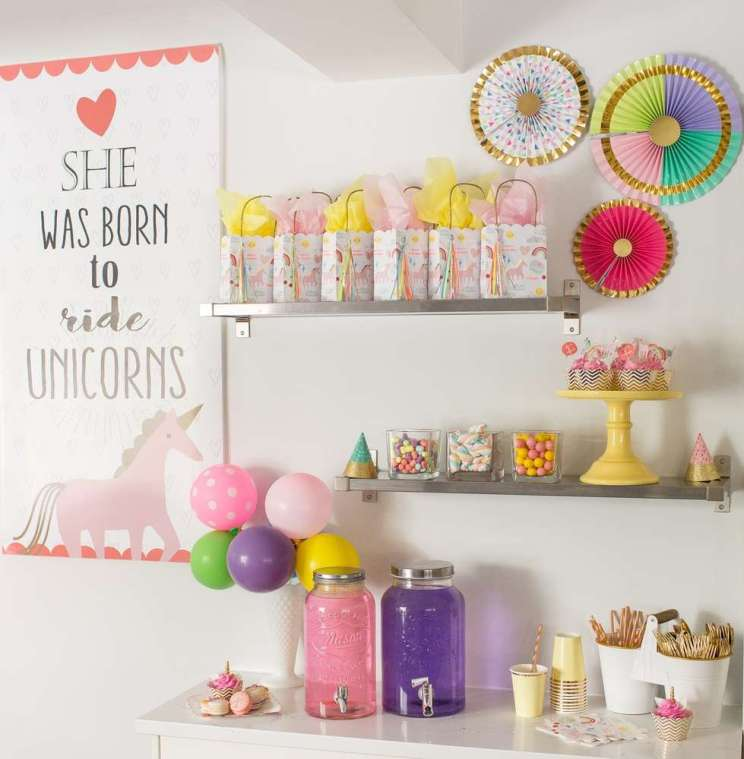 Rainbow and Unicorn Theme Birthday Party Decoration 2
