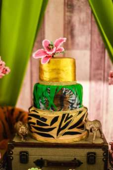 Rainforest Theme Birthday Party Cake 1
