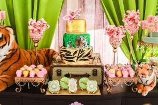 Rainforest Theme Birthday Party Cake