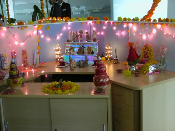 Diwali Workspace decoration
