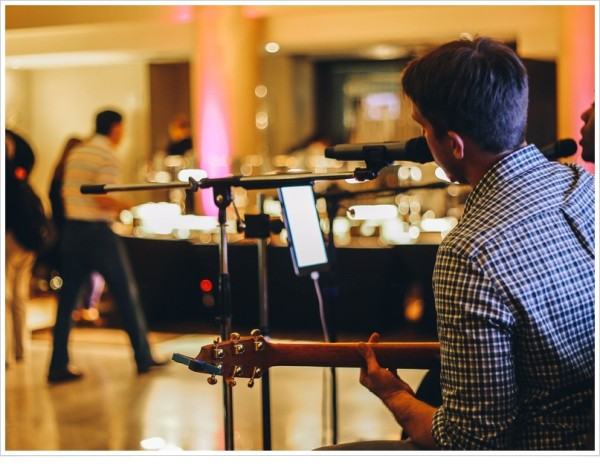 Live entertainment option for corporate party