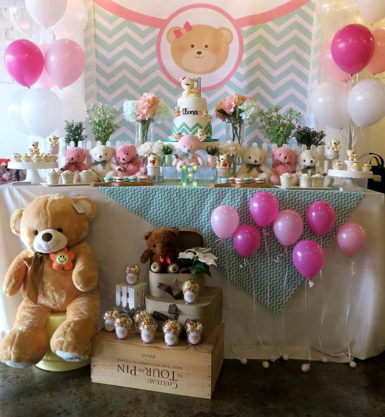 1 Teddy bear baby decoration One