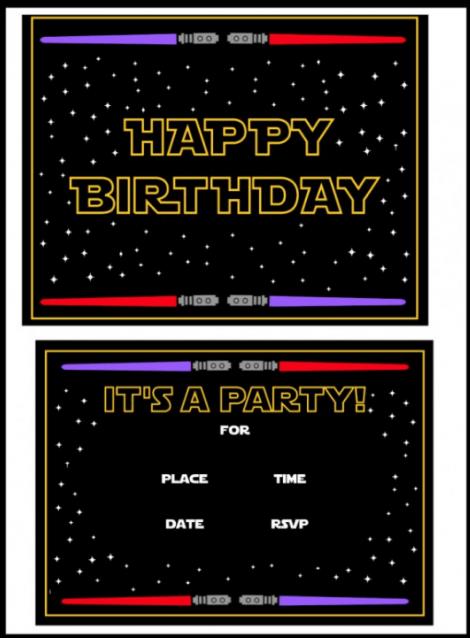 Star Wars- Birthday Party Themes (Invitation)