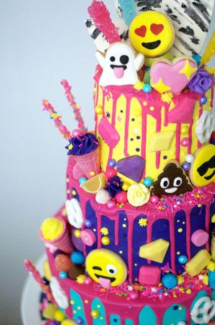 Emoji themed cake