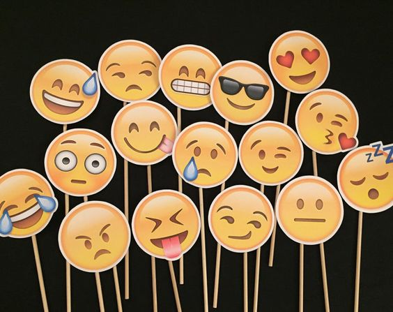 Emoji themed photobooth