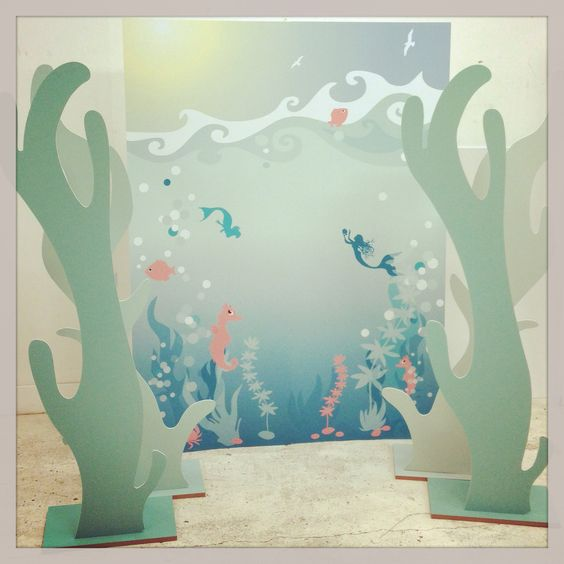 Mermaid themed photo prop