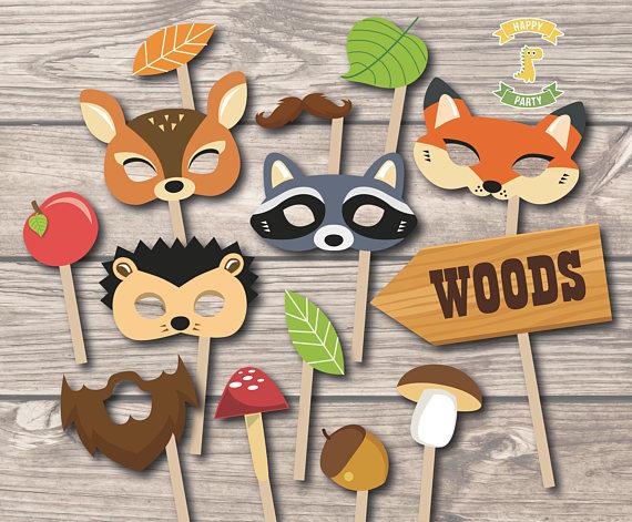 Woodland themed photobooth