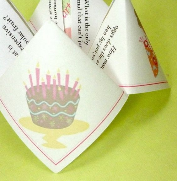 Cootie Catcher Invitation Card 2